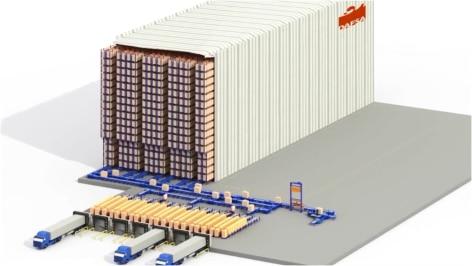 Mecalux construye una bodega autoportante automática preparada para el futuro