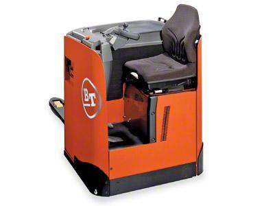 Estibador eléctrico con asiento