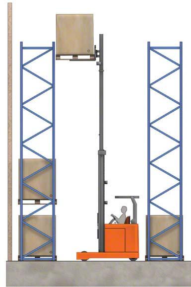 Algunos montacargas pueden levantar la carga por encima de los 10 metros.