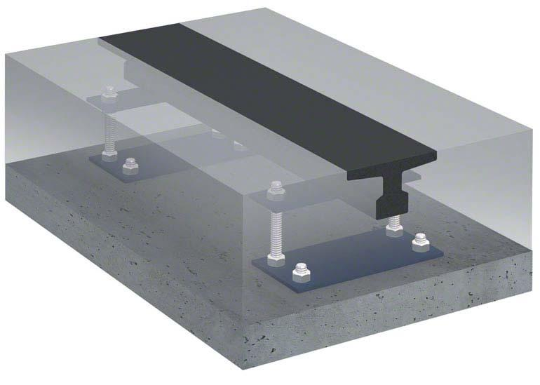 Carril de rodadura para estanterías móviles o Movirack
