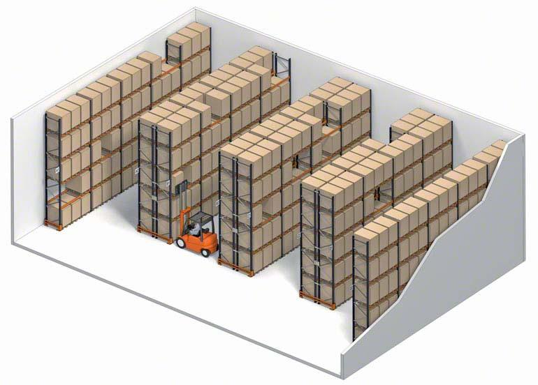 Sistema de almacenaje selectivo con acceso directo a cada estiba.