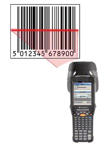 Ejemplo de una etiqueta con código de barras EAN-13 para identificar el producto.
