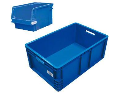 Un contenedor donde se ubican, sueltas, las unidades de venta.
