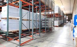 El sistema push-back ofrece múltiples opciones de almacenaje de alta densidad que optimizan el espacio disponible