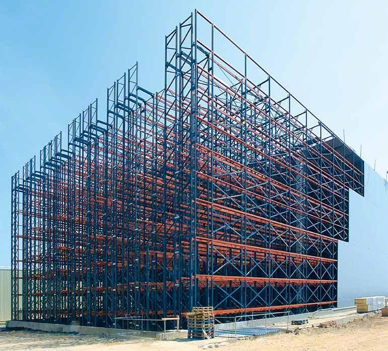 En una autoportante, las estanterías configuran la estructura del propio edificio.