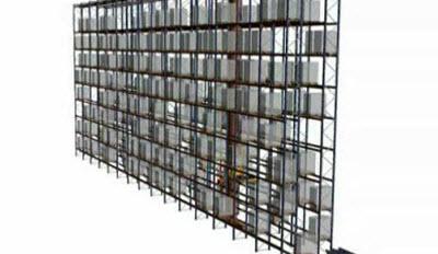 Ciclo simple almacenamiento de transelevador para estibas monocolumna