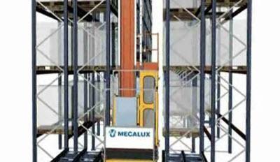 Transelevadores: extracción tarima doble fondo