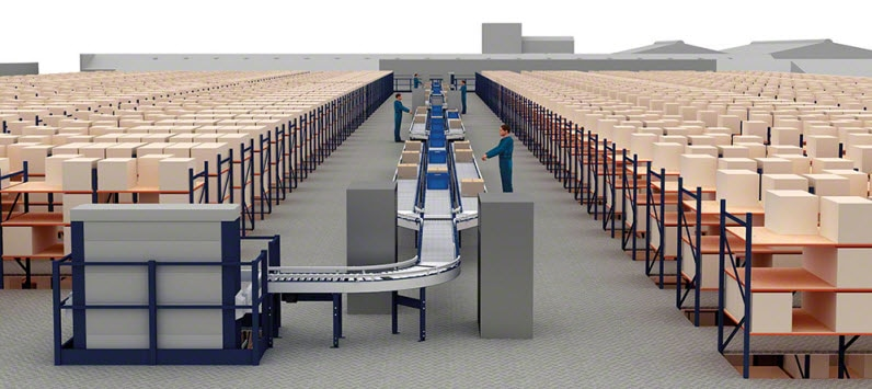 El fabricante de esquís Rossignol instalará unas estanterías de picking con pasarelas y un circuito de transportadores de cajas