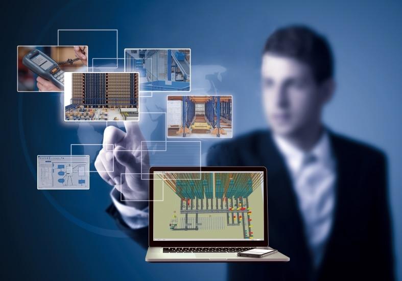 La simulación de una bodega es una representación virtual de todos los elementos que se hallan en su interior e intervienen
