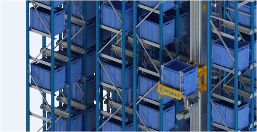 La bodega automática miniload de Clics tiene capacidad para alojar hasta 7.800 cajas