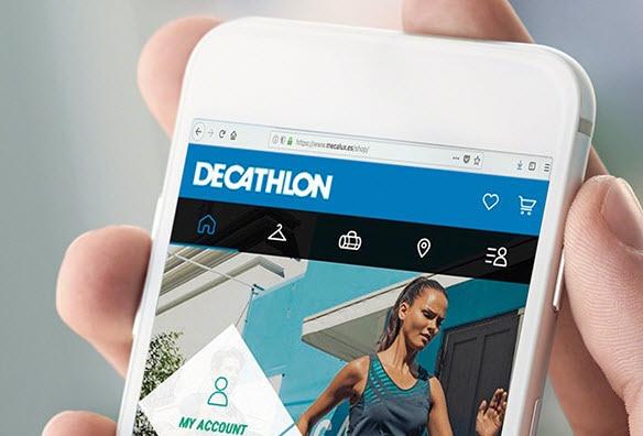 Estanterías para picking en la bodega de venta online de Decathlon