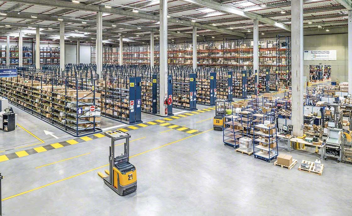 Los almacenes que surten a la logística de producción se sectorizan si cuentan con un inventario muy heterogéneo